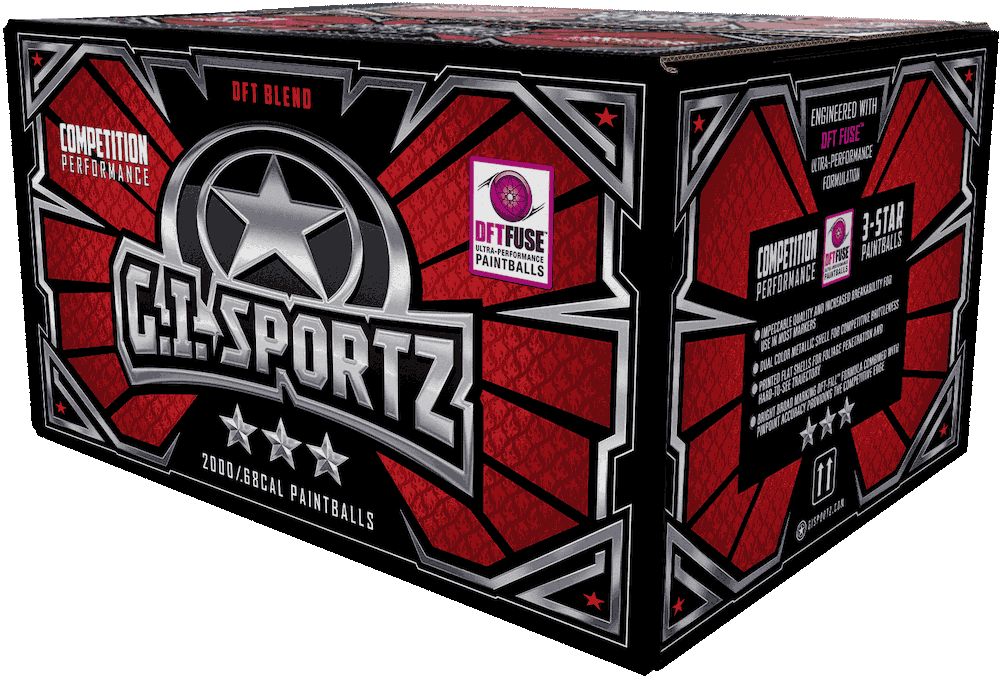 G.I. Sportz 3 Star Paintballs Box